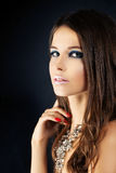 Young Woman with Makeup Royalty Free Stock Photography
