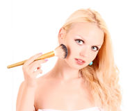 Young woman makeup isolated Stock Image