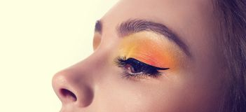 Young woman with makeup Royalty Free Stock Photos