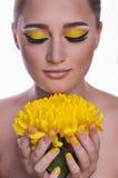 Young woman with makeup Stock Photos