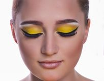 Young woman with makeup Royalty Free Stock Images