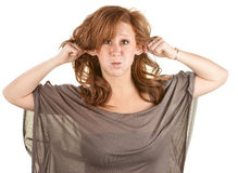 Young Woman Making Faces Royalty Free Stock Images