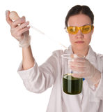 Young woman making laboratory test Stock Photo