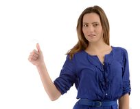 Young woman making ok sign Stock Image