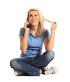 Young woman making a phone call Royalty Free Stock Photography