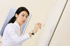 Young woman making presentation Stock Photos
