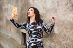 Young woman making selfie Royalty Free Stock Photography