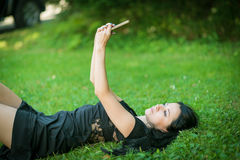 Young woman making selfie. Royalty Free Stock Image