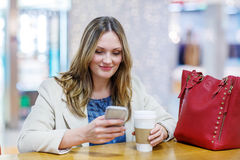 Young woman making selfie with mobile phone Royalty Free Stock Photos