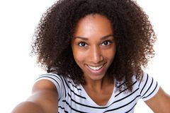 Young woman making a selfie Royalty Free Stock Images
