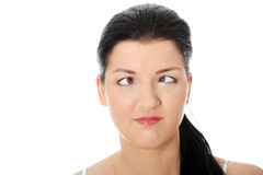 Young woman making squint Stock Image