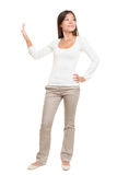 Young Woman Making Stop Gesture Royalty Free Stock Photo