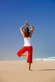 Young woman making Yoga Royalty Free Stock Photos