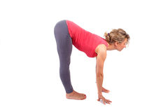 Young woman making a yoga posture Stock Photography