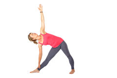 Young woman making a yoga posture Stock Image