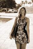 Young woman in Mallorca Royalty Free Stock Photos