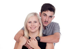 Young woman and man Royalty Free Stock Image