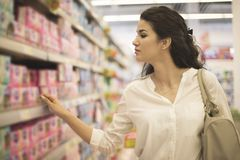 Young woman at the market Stock Photography