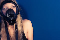 Young woman with a mask Royalty Free Stock Photo