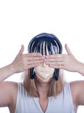 Young woman in  a mask Stock Photos