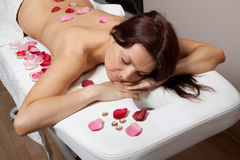Young woman on massage procedure Stock Photo