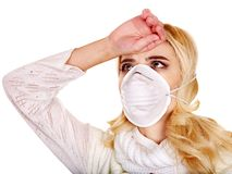 Young woman in medical mask. Sick young woman in medical mask Stock Photo