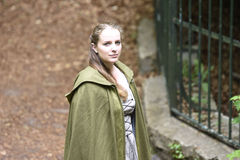 Young woman in medieval attire Stock Photography