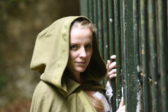 Young woman in medieval attire Royalty Free Stock Photo