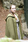 Young woman in medieval attire Royalty Free Stock Images