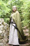 Young woman in medieval attire Stock Image