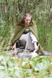 Young woman in medieval attire Royalty Free Stock Photos