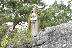 Young woman in medieval attire Stock Photos