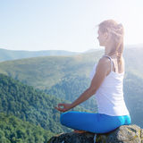 Young woman meditate Royalty Free Stock Photography