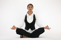 Young Woman Meditating Royalty Free Stock Photo