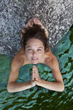 Young woman meditating. Stock Photo