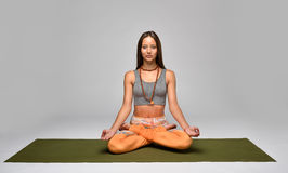 Young woman meditating Royalty Free Stock Photography