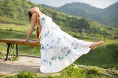 Young woman meditating and doing yoga Royalty Free Stock Image