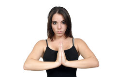 Young Woman Meditating or Praying (2) Stock Images
