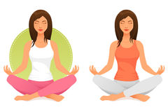Young woman meditating or relaxing Royalty Free Stock Image