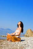 Young woman meditation royalty free stock photo