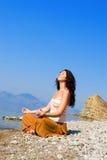 Young woman meditation Royalty Free Stock Photo