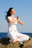 Young woman meditation Stock Images
