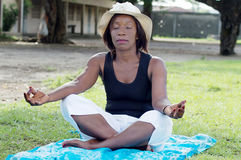 Young woman in meditation. Stock Photography