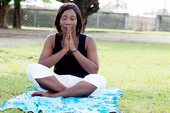 Young woman in meditation. Royalty Free Stock Images