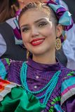 Young woman from Mexico in traditional costume Royalty Free Stock Images