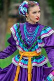 Young woman from Mexico in traditional costume Stock Photography