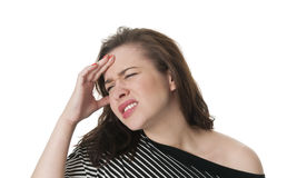 Young woman with migrane headache Stock Photos