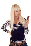 Young woman with mobile Royalty Free Stock Photography
