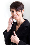A young woman with mobile phone Stock Photos