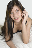 Young Woman with mobile phone 2 Royalty Free Stock Images